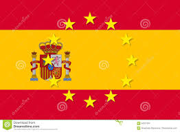 Gold Star Flag Spain National Flag With A Star Circle Of Eu Stock Vector Image
