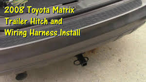 hitch and trailer wiring install on a 2008 toyota matrix by