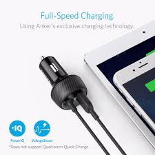 Anker Dual Port Car Charger Aliexpress Com Buy Anker Ultra Compact 24w 2 Port Car Charger