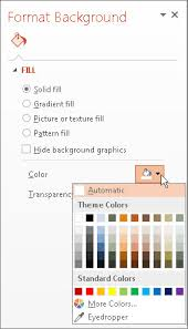 format the background color of slides powerpoint