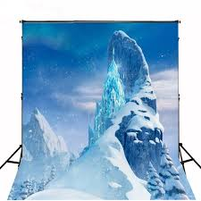 mountain backdrop frozen castle mountain photo backdrop vinyl cloth high quality