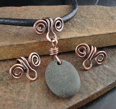 solid copper necklace images Solid copper bails handmade bail made to order copper swirl jpg