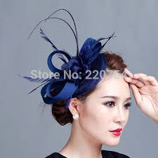 fascinators for hair royal blue fascinator flower feather sinamay hat women hair