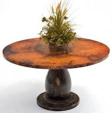 Copper Top Dining Room Tables Espresso Pedestal Dining Table Foter