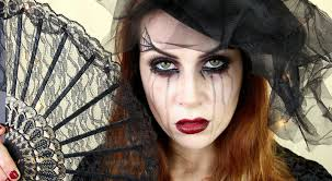 halloween makeup tutorial easy www letzmakeupblog com black widow makeup tutorial easy glam