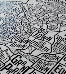 Map Of Washington Dc Neighborhoods by Atlanta Neighborhoods Map Art Print Art Prints U0026 Posters
