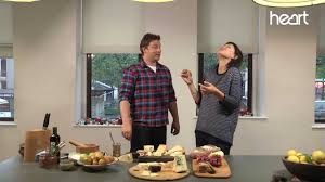 jamie oliver shows emma willis the perfect christmas cheeseboard