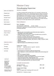 resume objective for housekeeping housekeeping cleaning resume