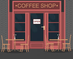 coffee shop background design coffee shop background design vector free download