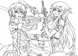 sword art coloring pages coloring