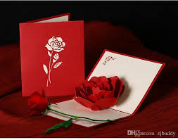 Buy Wedding Greeting Cards Online Ywbeyond Rose 3d Pop Up Greeting Card Stereoscopic Valentine U0027s Day