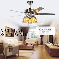 ceiling fan dining room modern folding acrylic leaf led ceiling fans creative plated steel