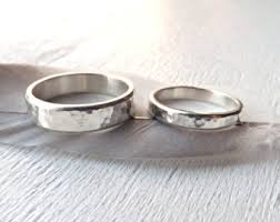 his and hers matching wedding rings his and hers hammered silver wedding rings made wedding