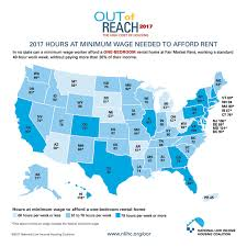rent in usa this map shows how much you need to earn to rent an apartment in the u