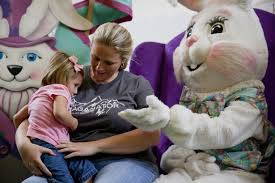 easter plays for children student plays easter bunny at greenwood mall wkuherald