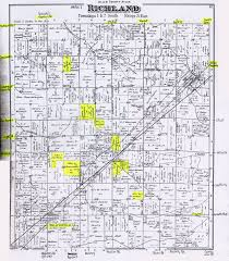 County Map Of Ohio Documents Various Map Of Richland Township Allen County Ohio