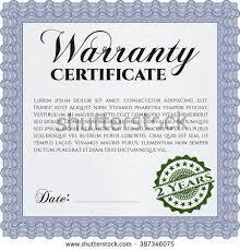 vector illustration sample warranty certificate template stock
