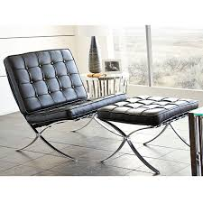 diamond sofa cordoba2pcbl cordoba tufted chair ottoman set w diamond sofa cordoba tufted chair ottoman set w stainless steel frame in black leather