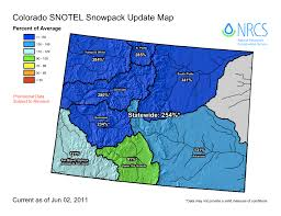 colorado snowpack map colorado june 1 snowpack at record levels nearly statewide