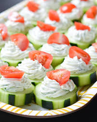 these fresh dilly cucumber bites make a great healthy appetizer