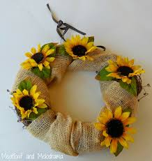 burlap sunflower wreath sunflower wreath makeover meatloaf and melodrama