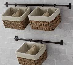 Pottery Barn Baskets With Liners Hannah Basket Wall System Large Pottery Barn