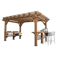 8 X 10 Pergola by Backyard Discovery 10 Ft X 10 Ft Cedar Pergola 1505513com The