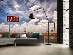 wallpaper with clouds wallmurals ie route 66 wall mural by www wallmural ie