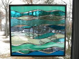 Sea Glass Bathroom Ideas Colors Sea And Surf Stained Glass Panel By Sandhillshores On Etsy Home