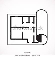 Icon Floor Plan House Plan Icon Stock Vector 485213560 Shutterstock