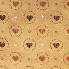 scrapbooking paper in brown with hearts