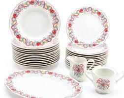 vintage dinnerware set dinner plates dish set of dishes