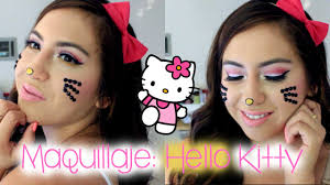 tutorial de maquillaje hello kitty halloween youtube