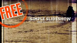 simple slideshow free after effects template youtube