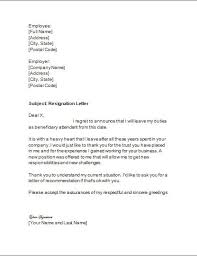 resignation letter format awesome resignation letter template