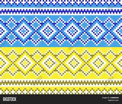 Blue And Yellow Cross Flag Good Like Handmade Cross Stitch Vector U0026 Photo Bigstock