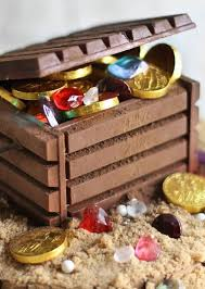 Pirate Decorations Homemade Candy Jewels And Chocolate Coins Fill This Diy Edible Treasure