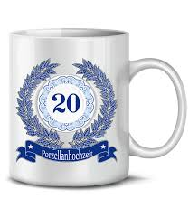 zum 20 hochzeitstag hochzeitstag porzellanhochzeit 20 jahre ehe kaffeebecher