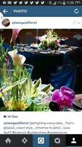 table spinning center designs another view of center pieces by spinning web florist hawaii