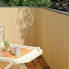 balkon abdeckung gardol comfort sichtschutz bambus optik 300 x 90 cm bauhaus