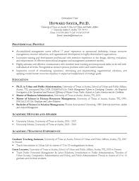 manager cv example hr ph d