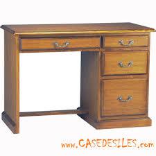 bureau en bois bureau bois chêne massif colonial 3107