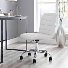 White Chair Desk modway ripple armless mid back leatherette office chair multiple