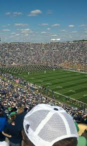 Notre Dame Stadium Map Notre Dame Stadium Section 123 Home Of Notre Dame Fighting Irish