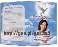 funeral service template word free funeral program template