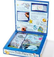 tooth fairy gift tooth fairy land gift set in blue milchzahnzwerge de