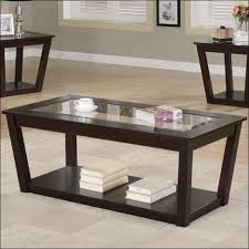 coffee tables dazzling black round unique wooden legs and glass