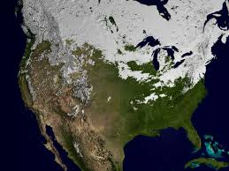 Usa Snow Map by Svs Snow Cover Over The Usa During The Winter Of 2002 2003