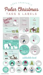 polar christmas gift tags u0026 labels lia griffith