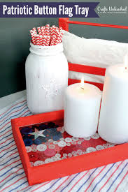 4th of july decor diy button flag tray tutorial